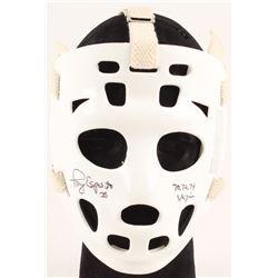 """Tony Esposito Signed Full-Size Throwback Goalie Mask Inscribed """"70, 72, 74 Vezina"""" (Schwartz Hologra"""