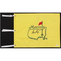 Gary Player Signed Masters Pin Flag (JSA COA)