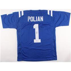 """Bill Polian Signed Colts Jersey Inscribed """"HOF 15"""" (Beckett COA)"""