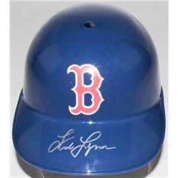 Fred Lynn Signed Red Sox Full-Size Replica Batting Helmet (JSA COA)