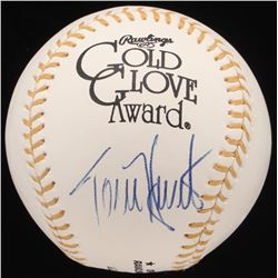 Torii Hunter Signed Golden Glove Award Baseball (JSA Hologram)