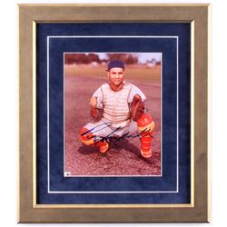 Roy Campanella Signed Dodgers 15x17 Custom Framed Photo (JSA LOA)