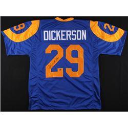 """Eric Dickerson Signed Rams Jersey Inscribed """"HOF 99"""" (Schwartz COA)"""