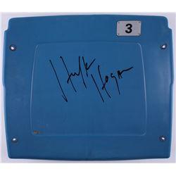 Hulk Hogan Signed Silverdome Stadium Blue #3 Game-Used Seatback (Schwartz COA)