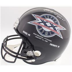 """Mike Singletary Signed Bears Super Bowl XX Full-Size Helmet Inscribed """"HOF 98"""" (Schwartz COA)"""