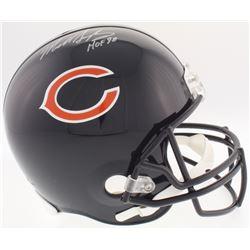 """Mike Singletary Signed Bears Full-Size Helmet Inscribed """"HOF 98"""" (Schwartz COA)"""