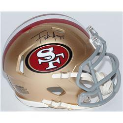 Frank Gore Signed 49ers Mini Speed Helmet (Schwartz COA)