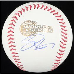 Scott Podsednik Signed 2005 World Series Baseball (Schwartz COA)