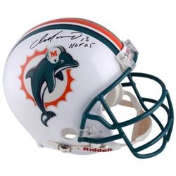 "Dan Marino Signed Dolphins Full-Size Authentic On-Field Helmet Inscribed ""HOF 05"" (Fanatics Hologram"