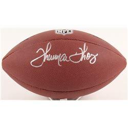 Thurman Thomas Signed NFL Football  (Schwartz COA)