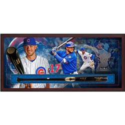 Kris Bryant Signed 23.5x49.5x3.5 Custom Framed Chandler Player Model KB17 Baseball Bat Shadowbox Dis