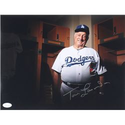 Tommy Lasorda Signed Dodgers 11x14 Photo (JSA COA)