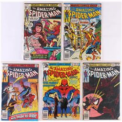 "Lot of (5) 1978-1979 ""The Amazing Spider-Man"" Marvel Comic Books"
