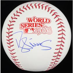 Darryl Strawberry Signed 1986 World Series Baseball (Schwartz COA)