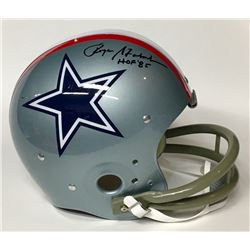 "Roger Staubach Signed Cowboys Throwback Suspension Full-Size Helmet Inscribed ""HOF '85"" (JSA COA)"