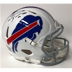 Tremaine Edmunds Signed Bills Full-Size Authentic Speed Helmet (JSA COA)