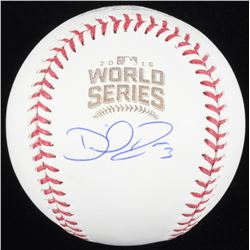 David Ross Signed 2016 World Series Logo Baseball (Schwartz COA)