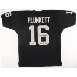 "Jim Plunkett Signed Raiders Jersey Inscribed ""SB XV MVP"" (Radtke Hologram)"