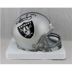 Howie Long Signed Raiders Mini Helmet (JSA COA)