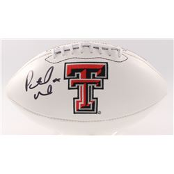 Patrick Mahomes II Signed Texas Tech Red Raiders Logo Football (JSA COA)