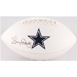 Tony Dorsett Signed Cowboys Logo Football (JSA COA)