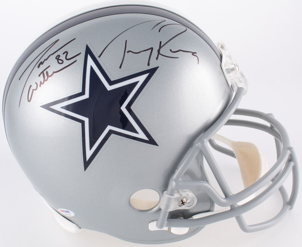 best service 45728 564cc Tony Romo Jason Witten Signed Cowboys Full-Size Helmet ...