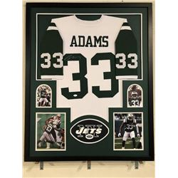 Jamal Adams Signed Jets 34x42 Custom Framed Jersey (JSA COA)