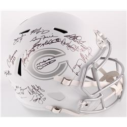 1985 Bears Full-Size White ICE Speed Helmet Team-Signed by (31) with Mike Ditka, Dan Hampton, Mike S