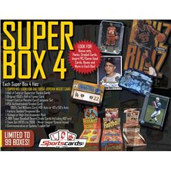 "Sportscards.com ""Super Box 4"" Mystery Sports Cards Box! 12+ Items Per Box! JAM PACKED!"