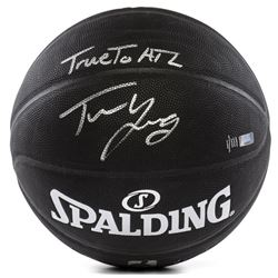 "Trae Young Signed LE NBA Arena Series Black Basketball Inscribed ""True To ATL"" (Panini COA)"