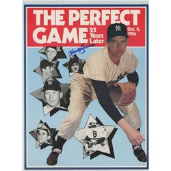 "1956 World Series ""The Perfect Game, 25 Years Later"" Magazine Insert Signed by (9) With Pee Wee Rees"