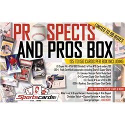 """Prospects  Pros"" Mystery Baseball Card Box–125+ Cards Per Box! Auto's  RC's!"