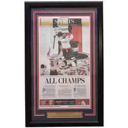 Capitals 18x30 Custom Framed 2018 Stanley Cup Champions Newspaper Page Display