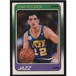 1988-89 Fleer #115 John Stockton RC