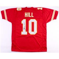 """Tyreek Hill Signed Chiefs Jersey Inscribed """"Cheetah"""" (JSA COA)"""