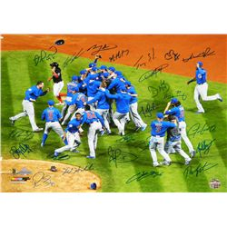 2016 Cubs World Series Champions 16x20 Photo Team-Signed by (24) with Ben Zobrist, Theo Epstein, Jav