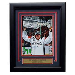 Nicklas Backstrom Signed Capitals 2018 Stanley Cup 11x14 Custom Framed Photo (Fanatics)