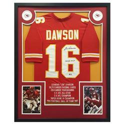 "Len Dawson Signed Chiefs 34"" x 42"" Custom Framed Jersey Inscribed ""SB IV MVP"" (Radtke COA)"