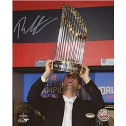 "Theo Epstein Signed Cubs ""2016 World Series"" 8x10 Photo (Schwartz COA)"