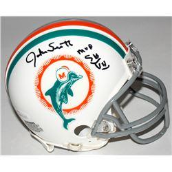 "Jake Scott Signed Dolphins Mini Helmet Inscribed ""MVP SB VII"" (JSA COA)"