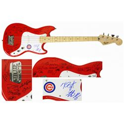 2016 Cubs World Series Champions Electric Bass Guitar Team-Signed by (25) with Kris Bryant, Anthony