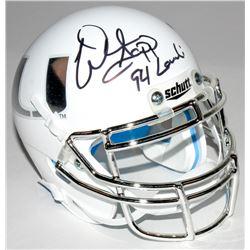 "Warren Sapp Signed Miami Hurricanes Custom Matte White Mini Helmet Inscribed ""94 Lombardi"" (JSA COA)"