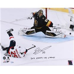 """Devante Smith-Pelly Signed Capitals 16x20 Photo Inscribed """"2018 Stanley Cup Champs"""" (Fanatics Hologr"""