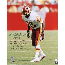 Darrell Green Signed Redskins 16x20 Photo with Multiple Inscriptions (JSA Witnessed)