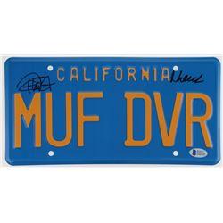 "Cheech Marin  Tommy Chong Signed ""Up in Smoke"" 6x12 License Plate (Beckett COA)"