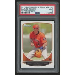 2013 Bowman Draft Top Prospects #TP10 Carlos Correa (PSA 9)