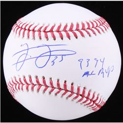 "Frank Thomas Signed OML Baseball Inscribed ""93, 94 AL MVP"" (Schwartz COA)"