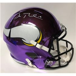 Adam Thielen Signed Vikings Chrome Full-Size Speed Helmet (TSE COA)
