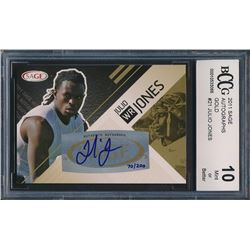 2011 SAGE Autographs Gold #21 Julio Jones (BCCG 10)