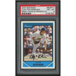 2007 Bowman Draft Future's Game Prospects #BDPP77 Clayton Kershaw (PSA 8)
